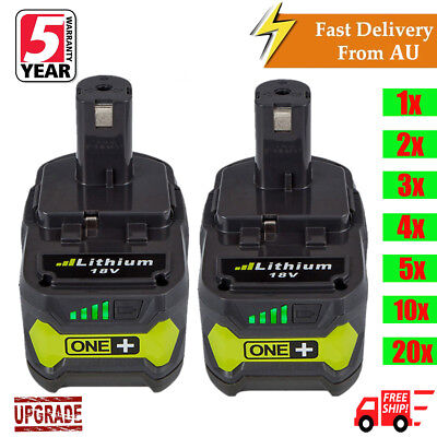 18V 6.0Ah Lithium-Ion Battery for RYOBI One+ RB18L25 RB18L50 P108 P107 P104 P780