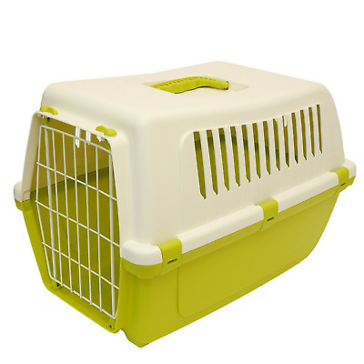 Rosewood Medium Large Cat Small Dog Puppy Kitten Carrier Plastic Durable Crate