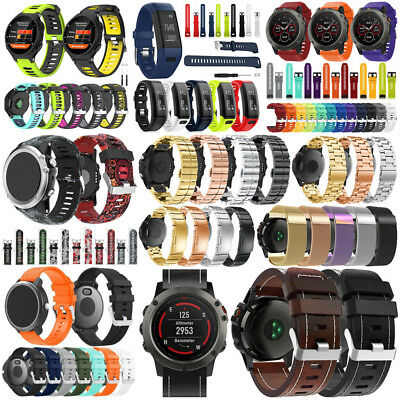 Silicone/Stainless Steel/Leather Watch Band for Garmin Fenix 5 5X 5S Plus/735XT