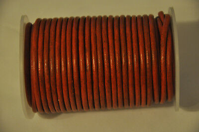 Round Leather Cord Real  Vintage Orange 3mm String Lace Thong Necklace Jewellery