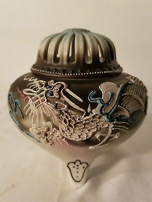 Vintage Moriage dragon ware incense burner.excellent condition.