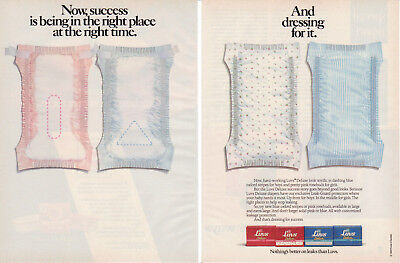 1990 Luvs Deluxe Diapers For Boys Girls Oxford Stripes 2Page Vintage Print Ad #1