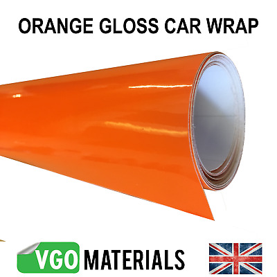 Quality Orange Gloss Car Motorbike Vinyl Vehicle Wrap Air Release  CW3321