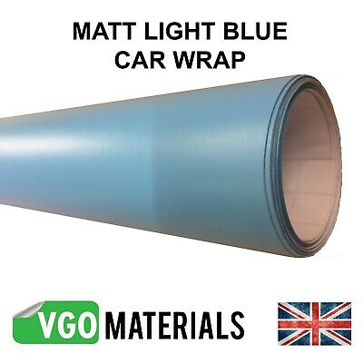 Quality Light Blue Matt Car Motorbike Vinyl Vehicle Wrap Air Release CW3304