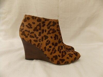 e463122829e Adrienne Vittadini Sarah Shoes Animal Print Dyed Calf Fur Boots Booties Size  7.5