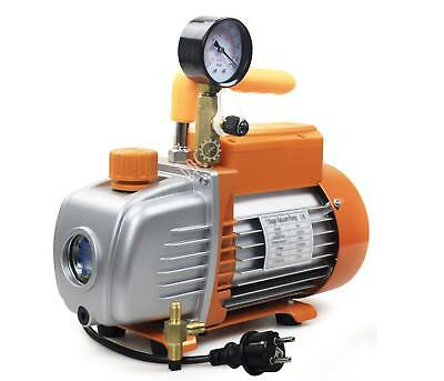 BACOENG HVAC 1/4HP 3CFM Single Stage Rotary Vane Degassing Vacuum Pump EU plug