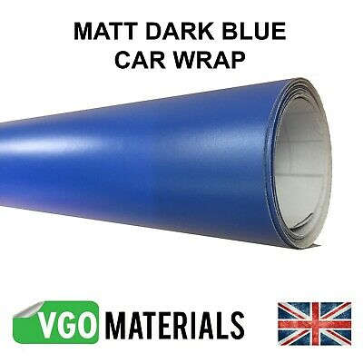 Quality Dark Blue Matt Vinyl Car Motorbike Vehicle Wrap Air Release  CW3330