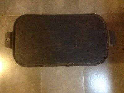 Old Antique Cast Iron Griddle Home/Camping Pancake Camp Relic Scarce Original A1