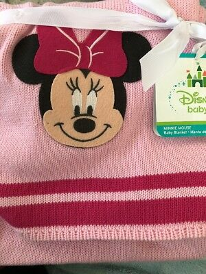 00d57504bffb DISNEY MINNIE MOUSE Baby Girl Blanket Layette Pink Super Soft Velour ...
