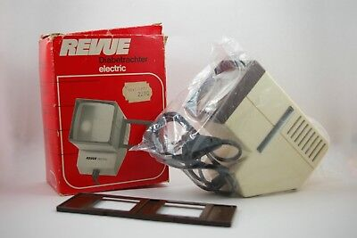 Revue Electric slide viewer 5x5 box complete working Diabetrachter OK Germany