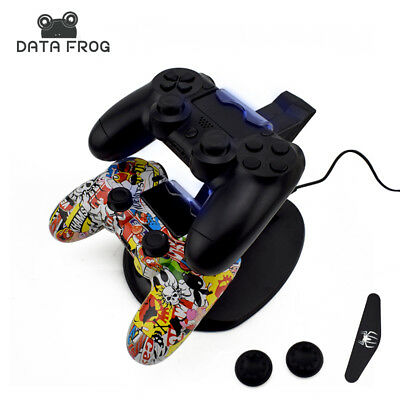 Dual USB Charging Dock Charger For Sony PS4 PlayStation 4 Game Controller Stand