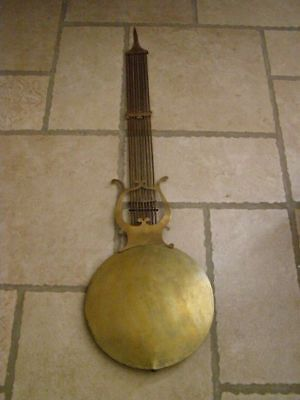 Old lyre pendulum of Comtoise diameter 27cm