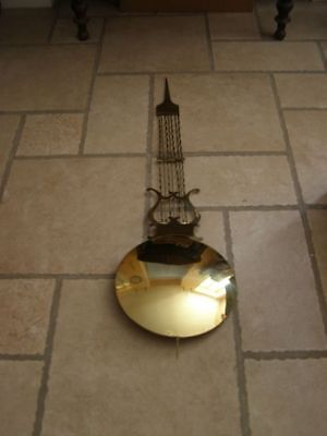 Old lyre pendulum of Comtoise diameter 28cm