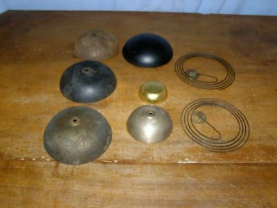 Lot of 6 old bells and 2 old gongs  for comtoise movement