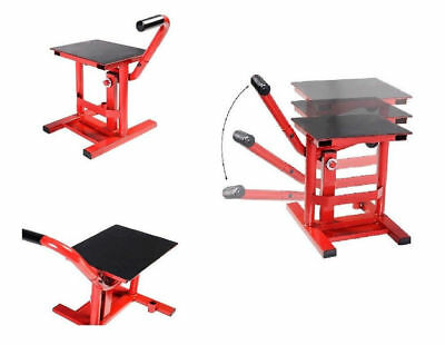 Motorcycle Top Quality Lift Stand for Motocross Dirt Bikes Cycle Maintenance Red