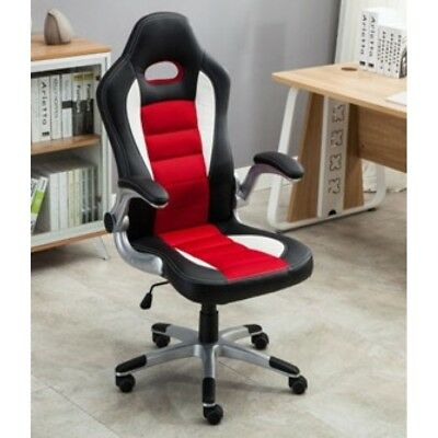 Swivel PU Leather Seat Office Racing Sport Gaming Style Tilt Computer Desk Chair