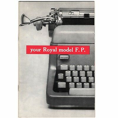 ROYAL FP TYPEWRITER INSTRUCTION MANUAL Standard Original User Vtg Antique