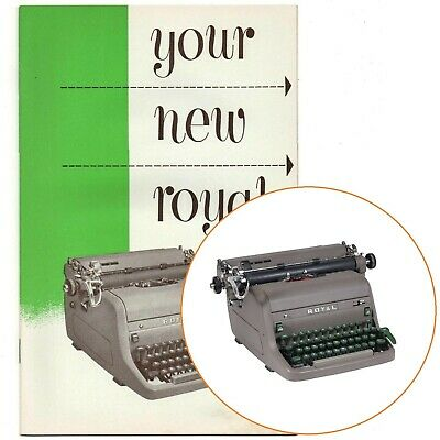 ROYAL HH STANDARD TYPEWRITER INSTRUCTION MANUAL Users Vtg Antique HHE HHP HHS