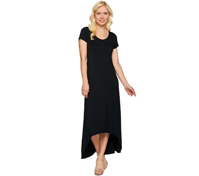 H By Halston Regular Hi Low Hem Knit Maxi Dress And Scoop Neck Size