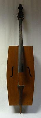 Rare Appalachian Folk Art Hand Made Wooden Stand Up Bass Fiddle FABULOUS!