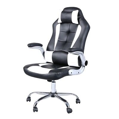 Gaming Computer Chair Office Racing Ergonomic Executive Swivel Desk Task Leather