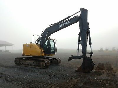 2012 John Deere 135D Excavator Tracked Hoe Diesel Tractor Hydraulic Thumb AC ZTS