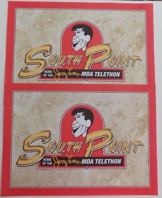 JERRY LEWIS South Point Hotel Placemats Vegas 2010 Jerry's Last Telethon RARE