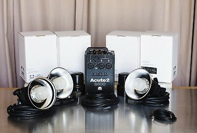 Profoto acute 2 2400 Kit With 3 Profoto D4 Flash Heads Free Shipping