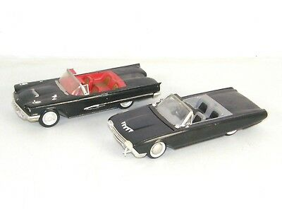 Lot of 2 Vintage Ford Thunderbird Built Models 1959? & 1961 4 Screw AMT 3 in 1