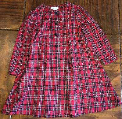 Bonnie Jean Jacket Girls Size 6X Red/Yellow/Blue/Green/Black Plaid Long Sleeves