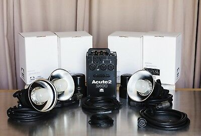 Profoto Acute 2 2400 Kit: 3 D4 Flash Heads + Cable Extension +  Free Shipping