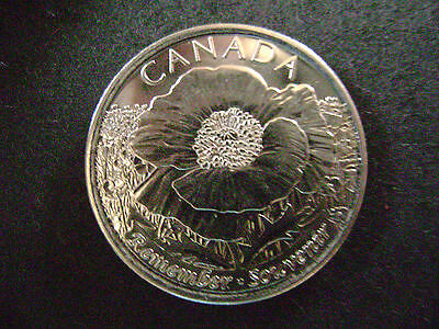 CANADA-2015-25 cents- Remember- Fine