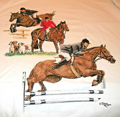 "English Riding Sport Horse T-shirt  "" Ash "" XL ( 46 - 48 )"