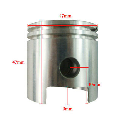 47mm Low Hole Cylinder Piston For 80CC Motorized Bicycle Bike Engine Parts
