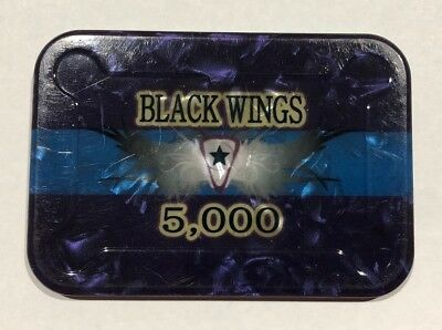 MSK Casino Plaque...Rectangle with Round Corners...Black Wings...5,000