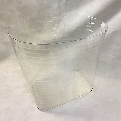 Plastic Protector Custom Made for the Longaberger Small Oval Waste Basket