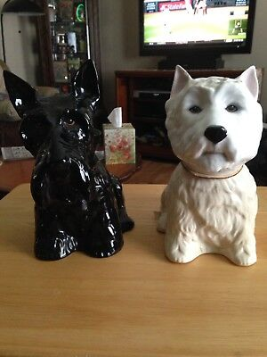 Black And White Porcelain Scottie Dogs Decanter