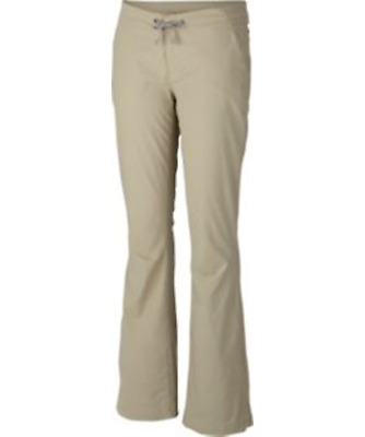 COLUMBIA Women Anytime Outdoor Pants Full Leg Regular Size 8 x 32 Tusk Beige $75