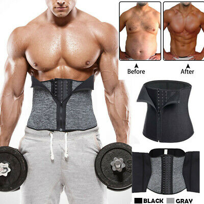Hot Men Neoprene Shapewear Sweat Belt Waist Cincher Trainer Body Shaper Corset A