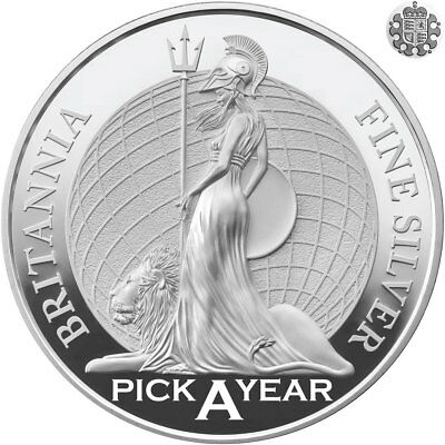 Silver Britannia - Pick A Year - Christening / Birthday Gift - Investment