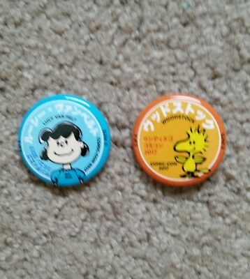 2017 SDCC Peanuts Lot of 2 Lucy & Woodstock Buttons Pins