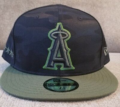 caa364cbbb6525 New 2018 LA Angels 59fifty Memorial Day Collection 7 1/2 fitted hat New Era