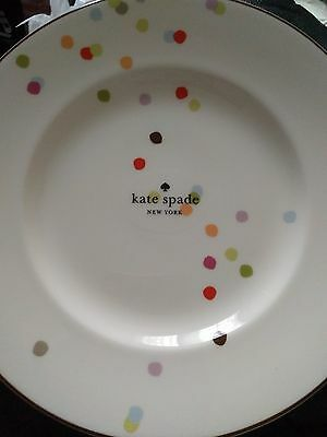 Kate Spade New York Market Street Accent Plate NWT 9.3 in & KATE SPADE LENOX Market Street Accent 9.3u201d China Plate Rainbow ...