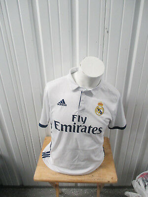 cdf51bc69a8 Vintage Adidas Real Madrid F.c.large Sewn 2016 17 White home Jersey Preowned