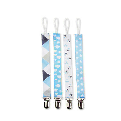 4pc Infant Baby Pacifier Holder Clip Strap Dummy Nipple Teething Beads Chain Toy