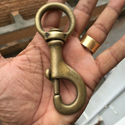 An old or antique solid brass GERMAN army hook Rare and Collectible