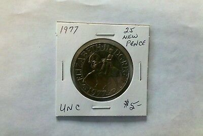 Great Britain 1977 25 New Pence Silver Wedding Ann.