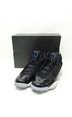 "AIR JORDAN 6 Rings ""Black Hyper Royal-White"" 322992 016 Sz10 P1 ... ffee8eea8"