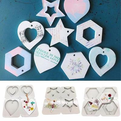 4-Cavity Hexagonal Aromatherapy Wax Plaster Epoxy Soap Silicone DIY Mould FW