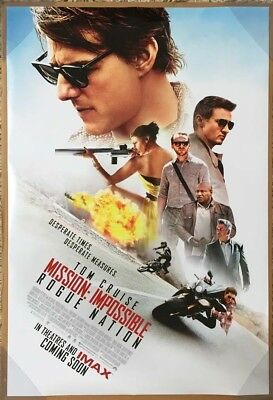 MISSION IMPOSSIBLE 5 ROUGE NATION MOVIE POSTER 2 Sided ORIGINAL Ver B 27x40